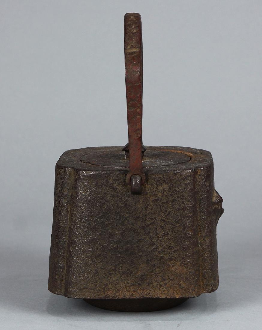 Japanese Iron Tetsubin Kettle, 19c - 4