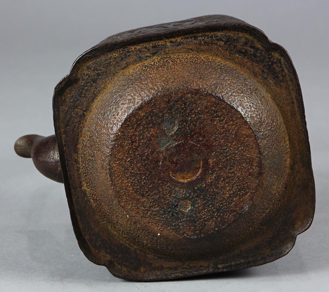 Japanese Iron Tetsubin Kettle, 19c - 6