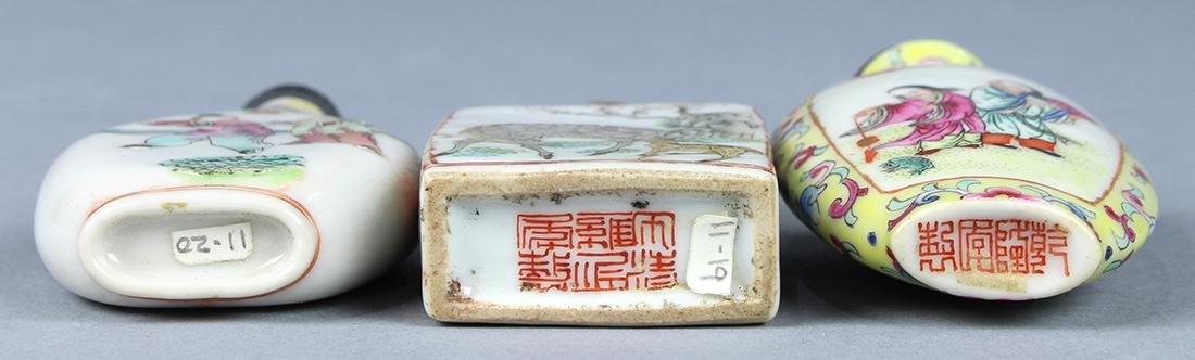 Chinese Enameled Porcelain Snuff Bottles, Figures - 5