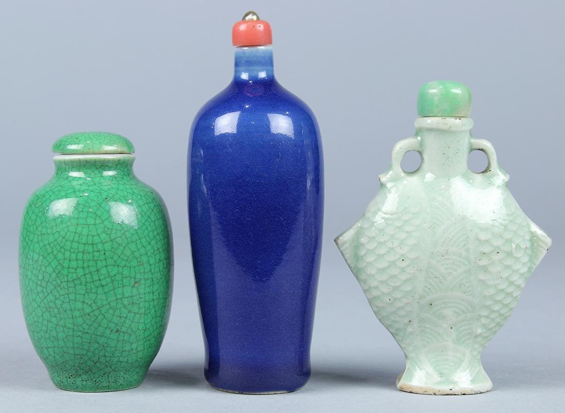 Chinese Monochrome Porcelain Snuff Bottles