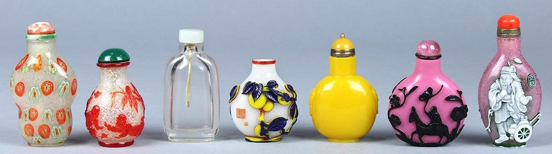 Assorted Chinese Glass Snuff Bottles