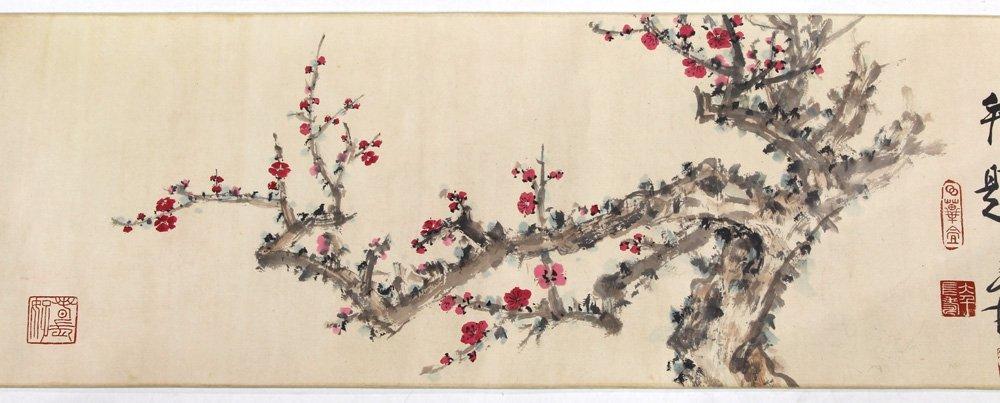 Chinese Handscroll, Manner of Zhang Daqian, Prunus