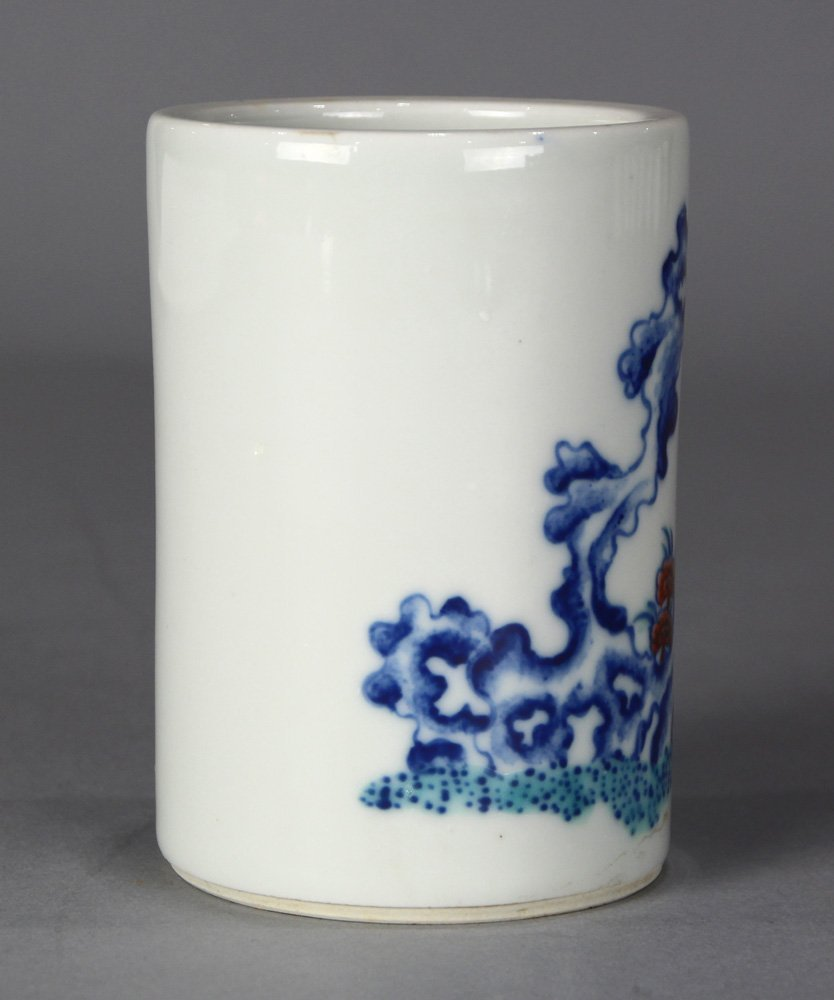 Chinese Porcelain Brush Pot - 4