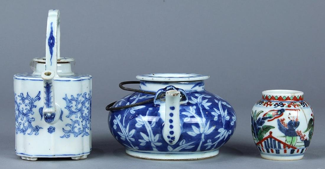 Chinese Blue and White Porcelain Teapots, Wucai Jarlet - 2