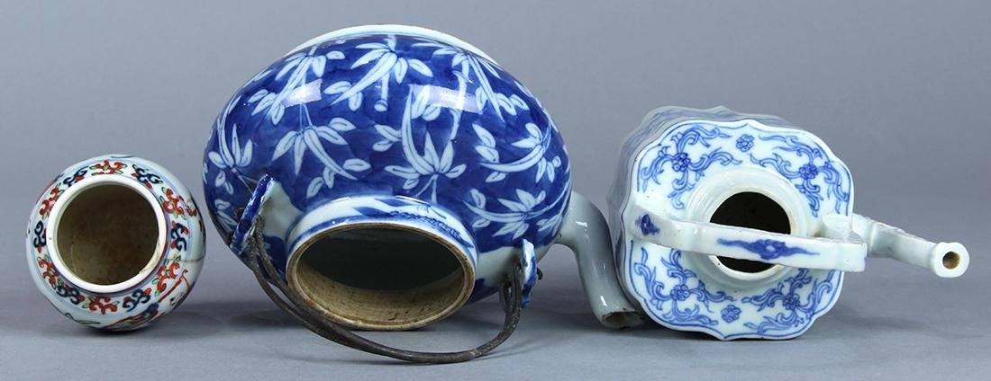 Chinese Blue and White Porcelain Teapots, Wucai Jarlet - 5