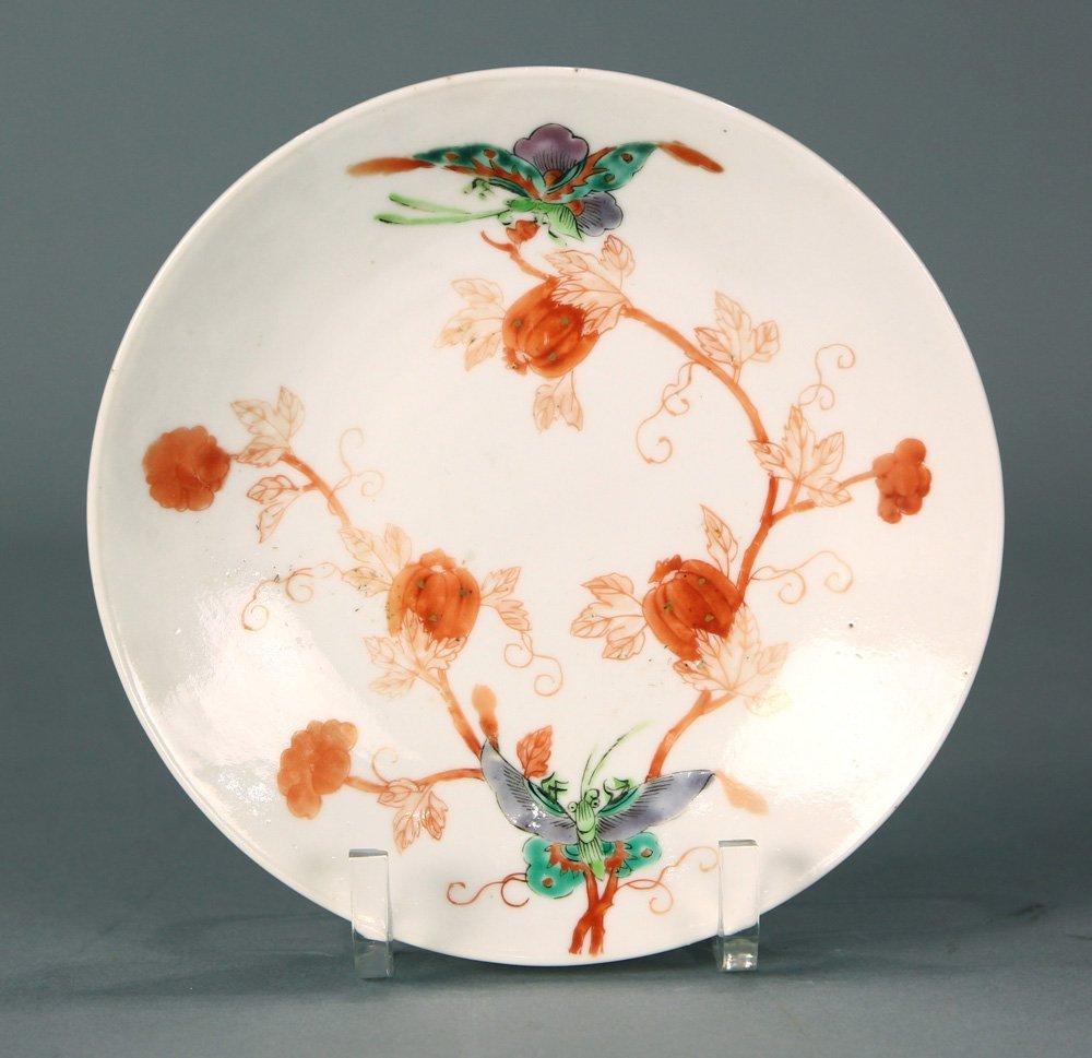 Chinese Porcelain Plates, Butterflies/Melons - 2