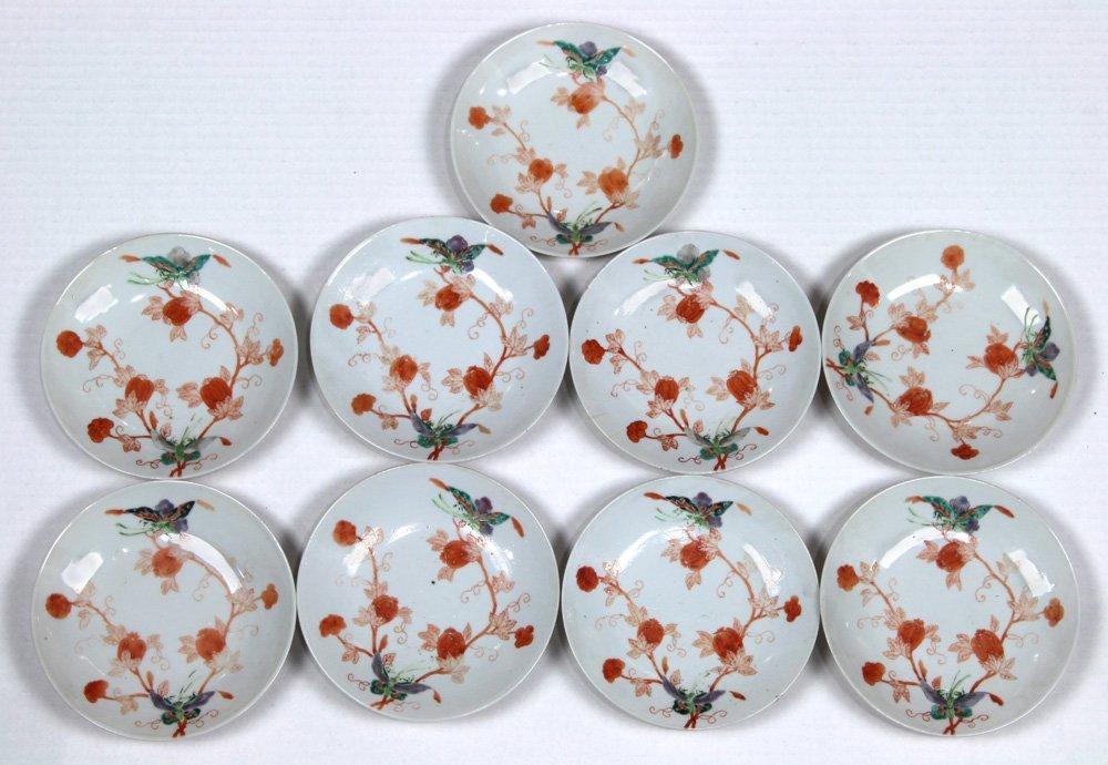 Chinese Porcelain Plates, Butterflies/Melons - 3