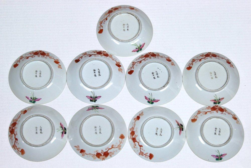 Chinese Porcelain Plates, Butterflies/Melons - 4