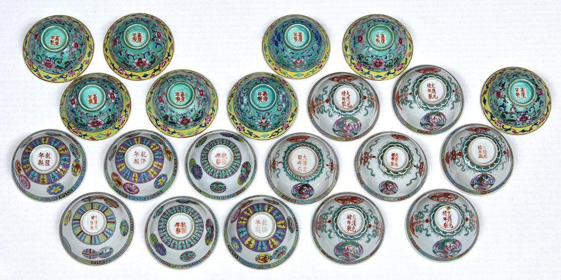 Chinese Sets of Porcelain Cups