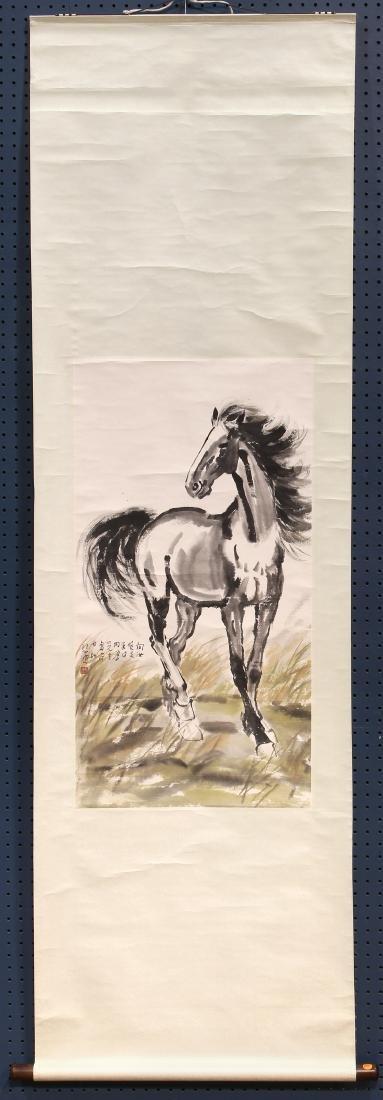 Chinese Scroll, Manner of Xu Beihong, Horse