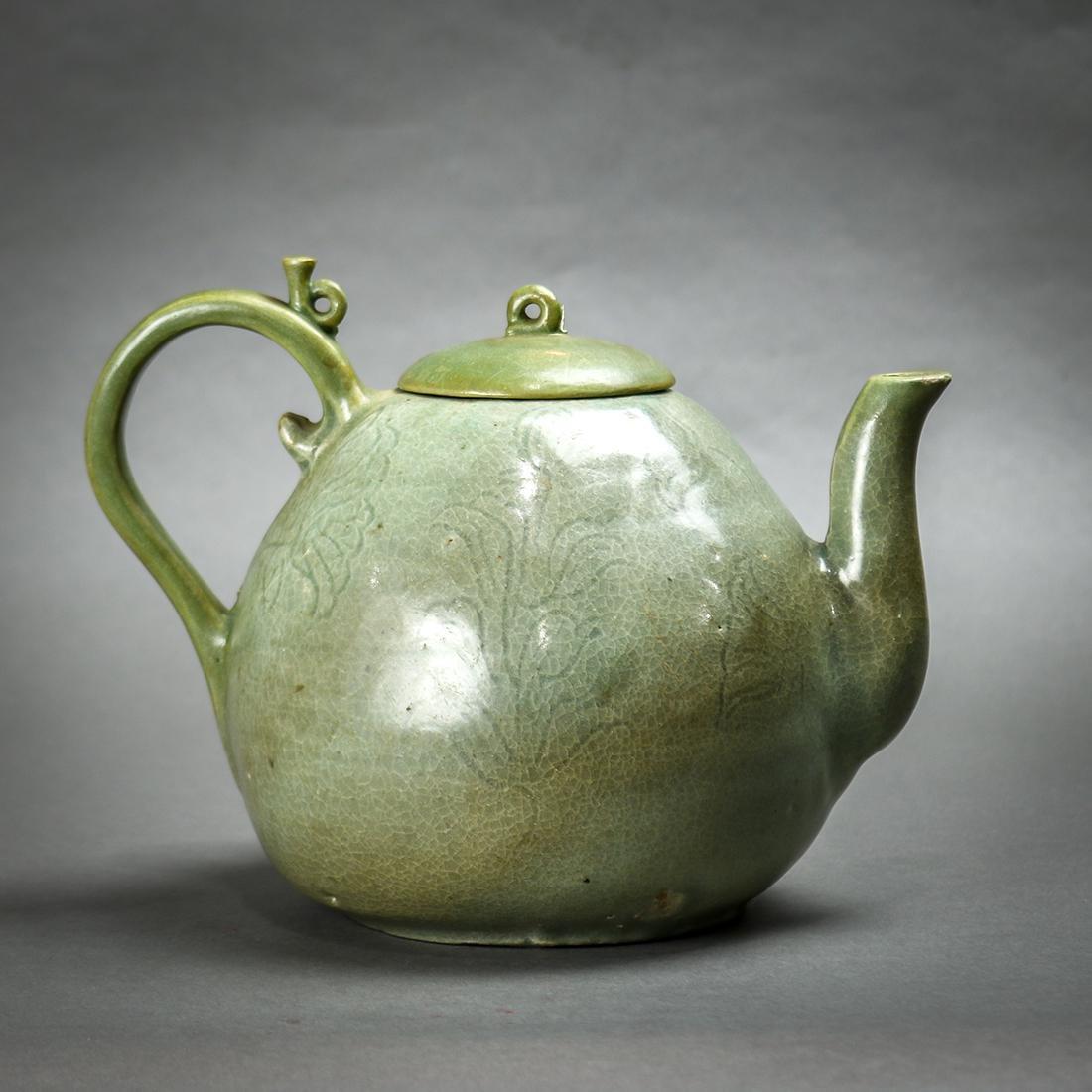Korean Celadon Ceramic Teapot - 2