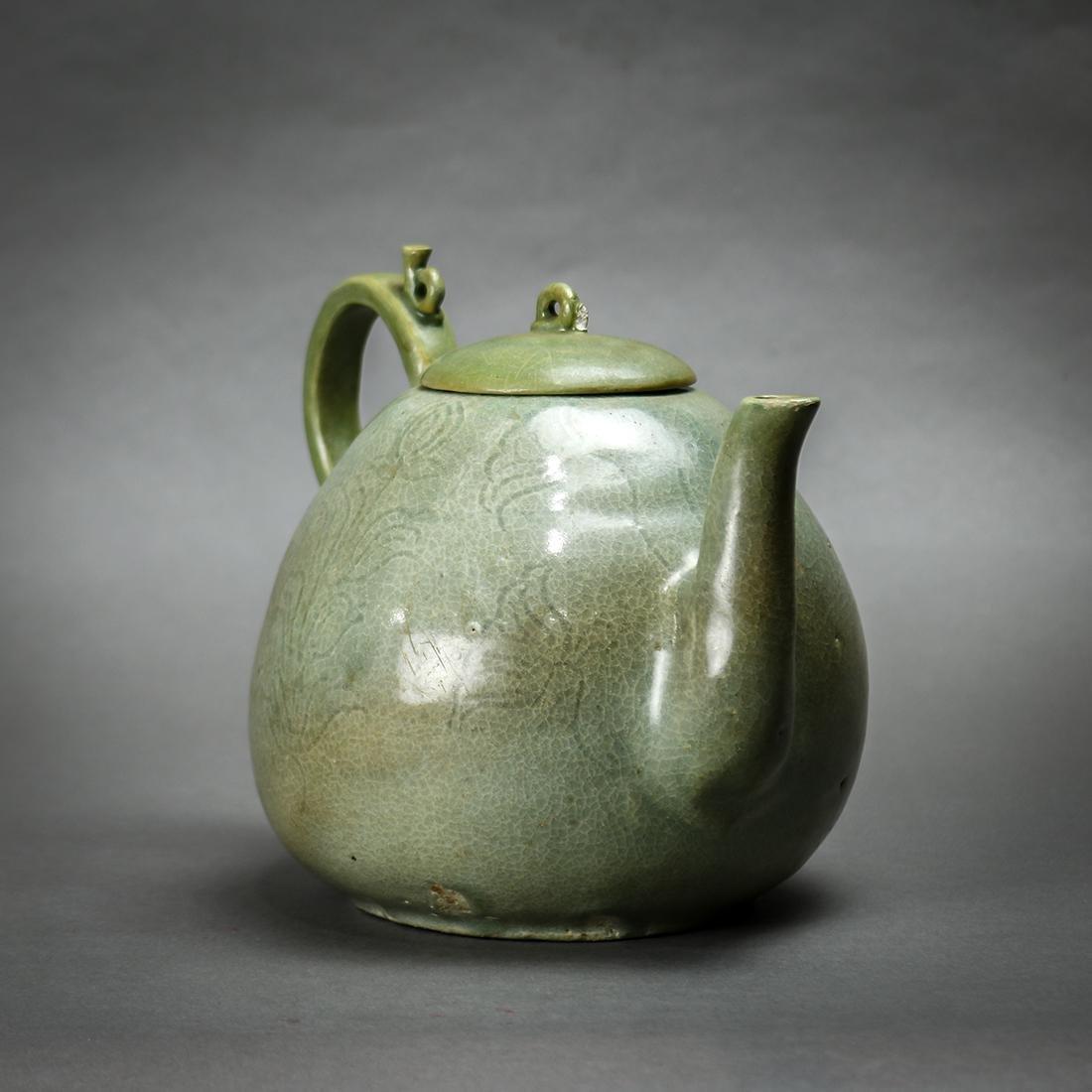 Korean Celadon Ceramic Teapot - 3