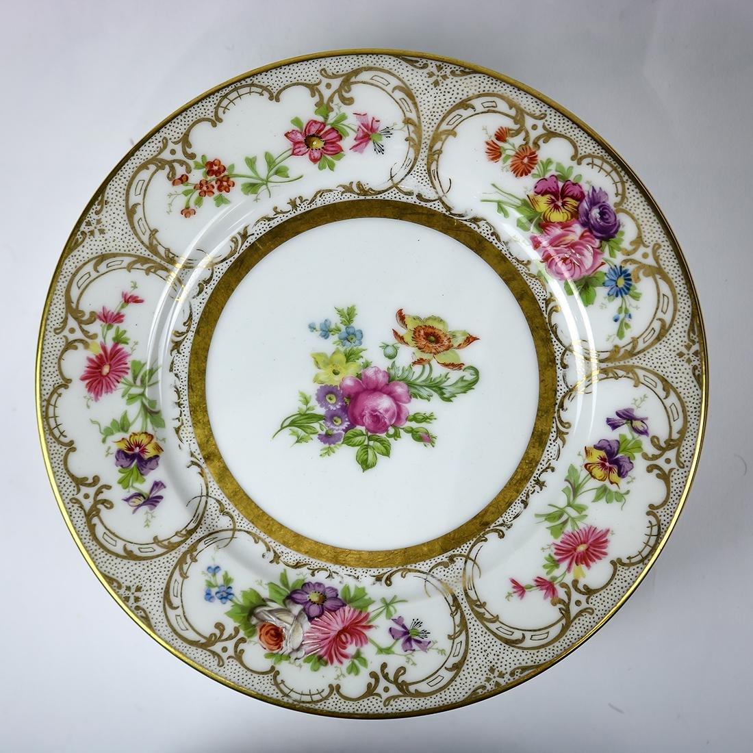 Limoges porcelain dessert plates - 2