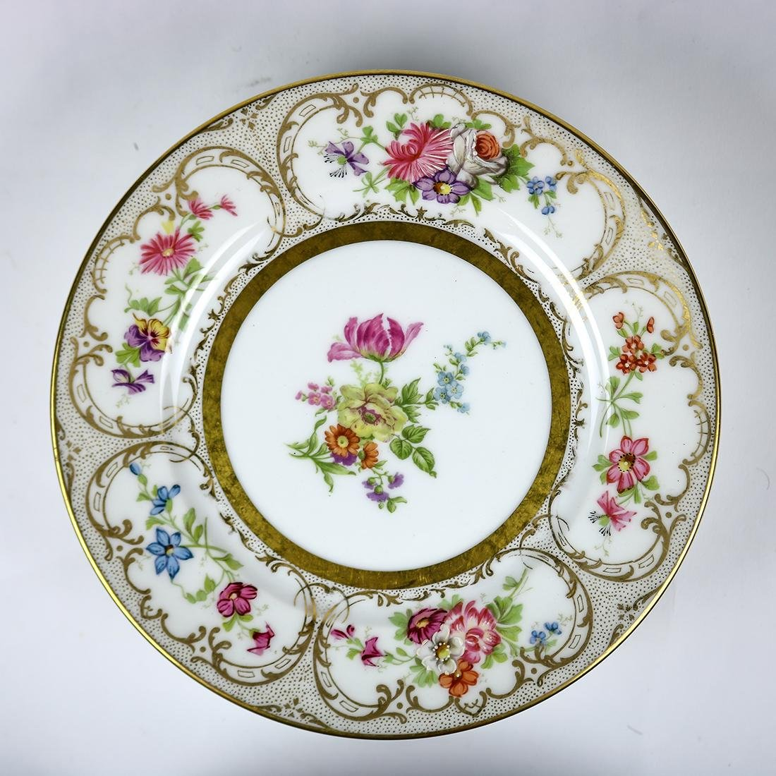 Limoges porcelain dessert plates - 3