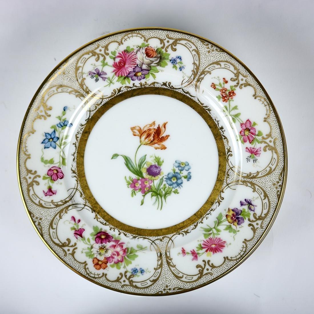 Limoges porcelain dessert plates - 4