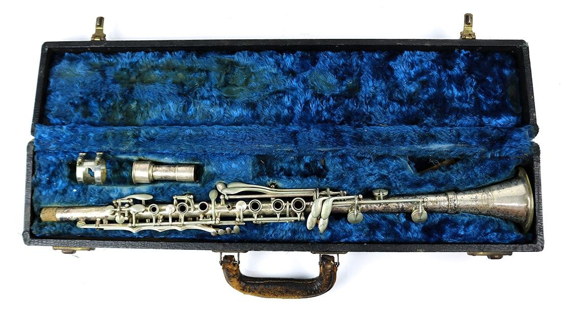 A  Fontaine silverplate clarinet