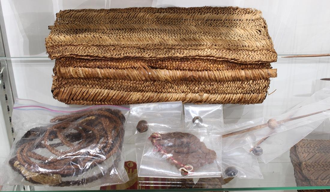 Reed rectangular weaving basket group, Chancay, Central - 4