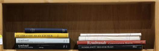 Lot of 10 Volumes of books on Rembrandt including