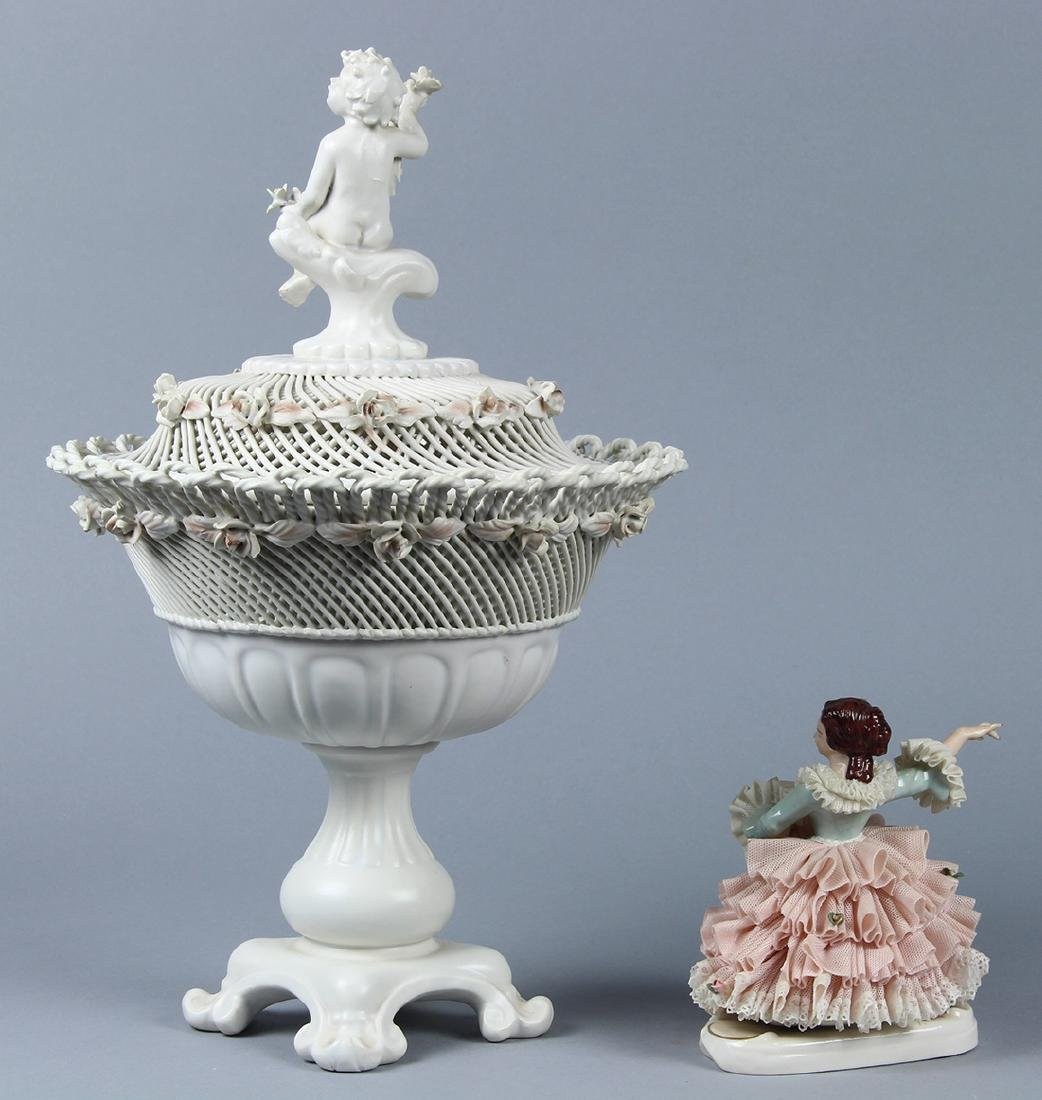 (lot of 2) Continental porcelain group - 2