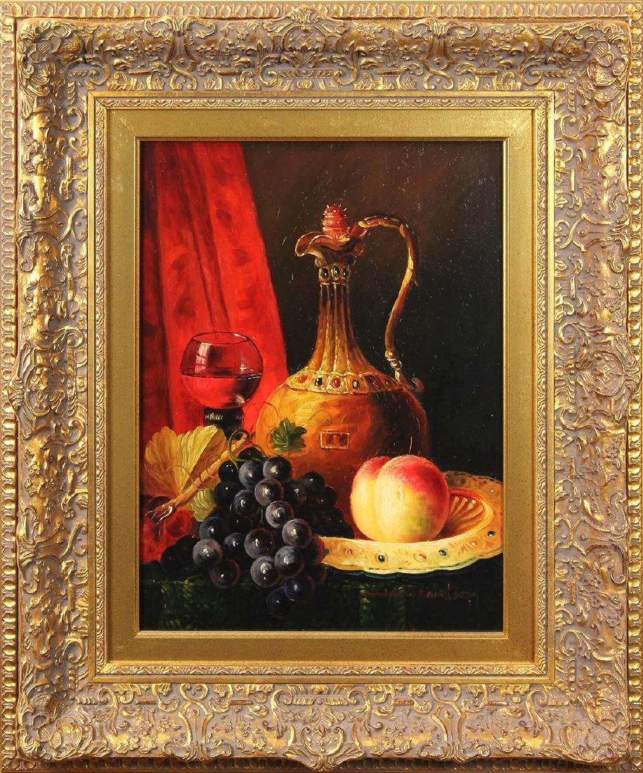 Painting, Still Life with Wine and Fruit - 2