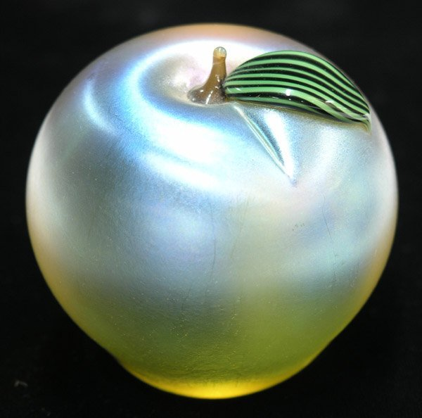 4011: Orient and Flume apple paperweight