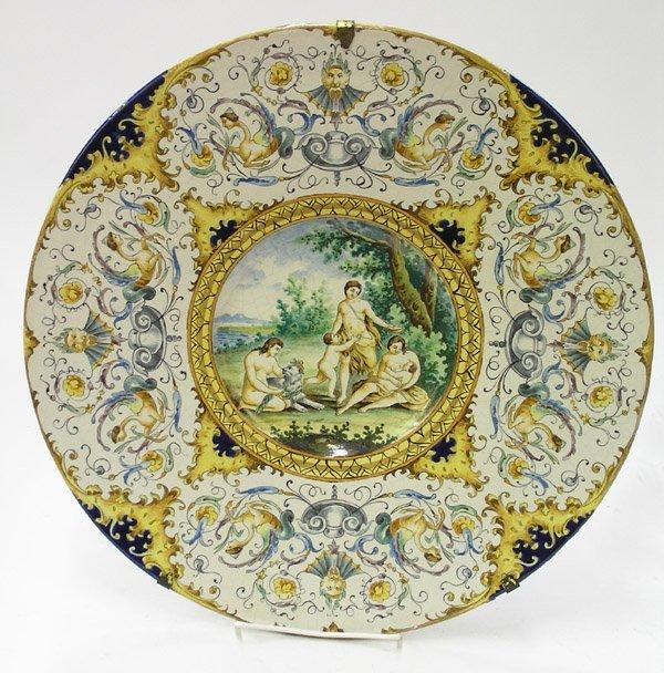 6006: Italian majolica charger 1870
