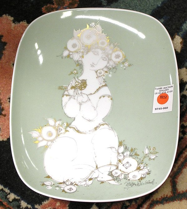 6012: Rosenthal porcelain plaque