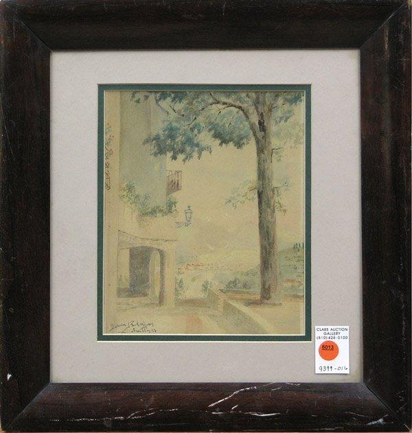 6013: Watercolor Garcia Rodriquez Spanish