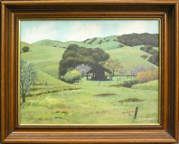 6014: painting Stewart landscape