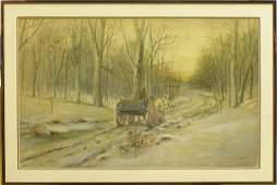 6142: Watercolor Charles A. Walker American