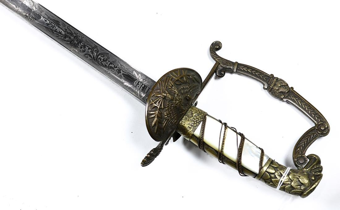 Infantry Officer's Eagle-Head sword by well-known - 5
