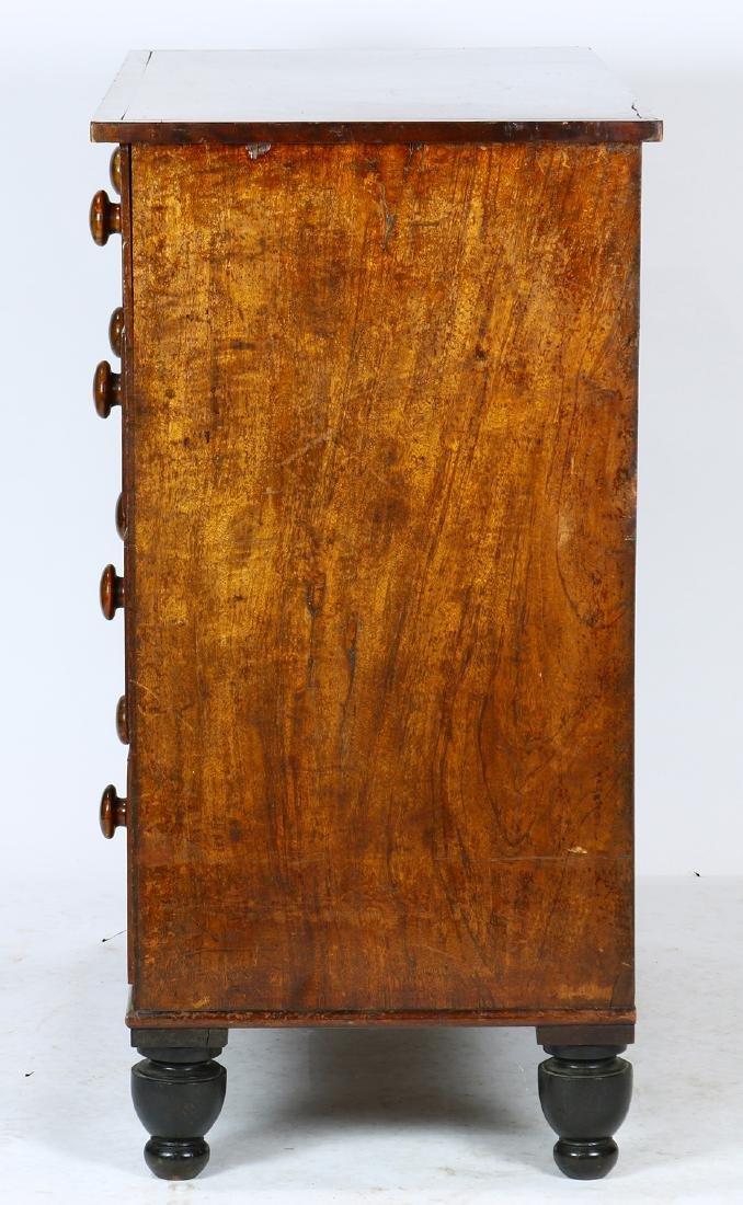 Empire flame mahogany chest - 3