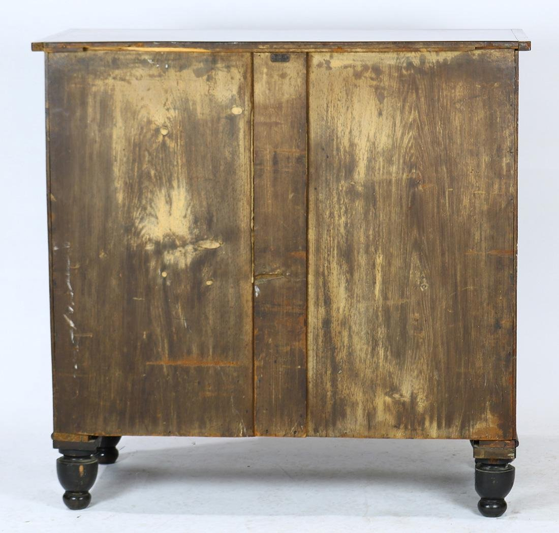 Empire flame mahogany chest - 4