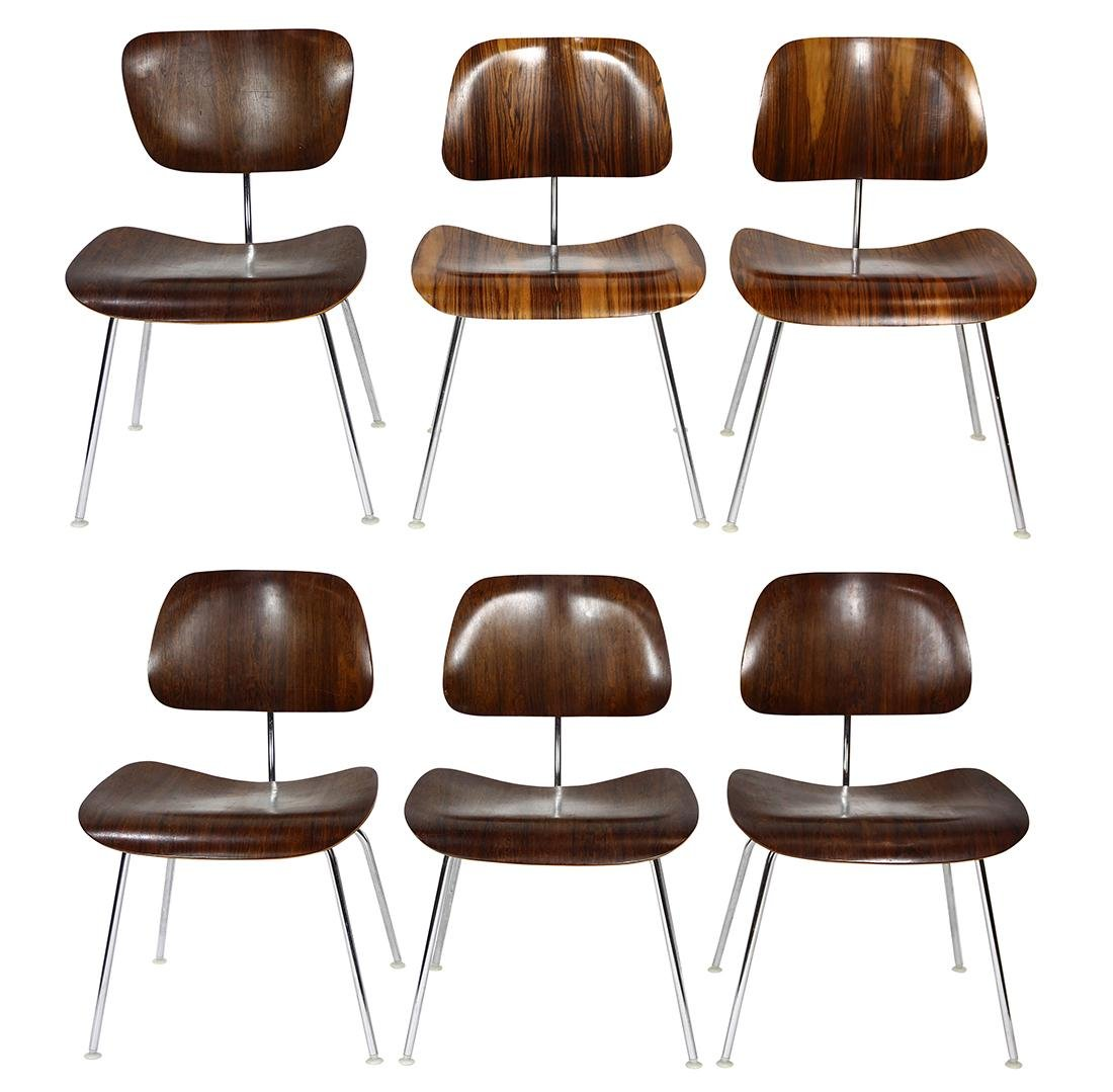 Charles and Ray Eames from Herman Miller rosewood DCM