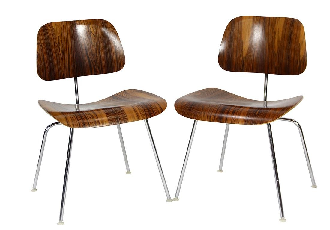 Charles and Ray Eames from Herman Miller rosewood DCM - 2