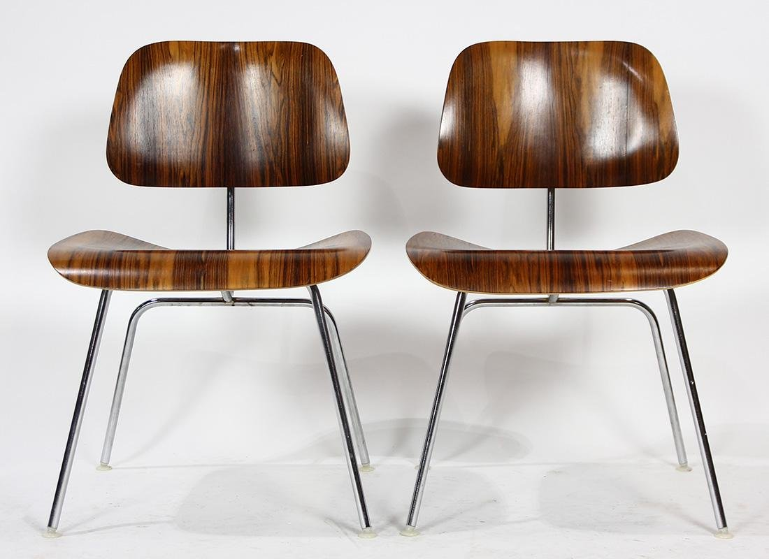 Charles and Ray Eames from Herman Miller rosewood DCM - 3