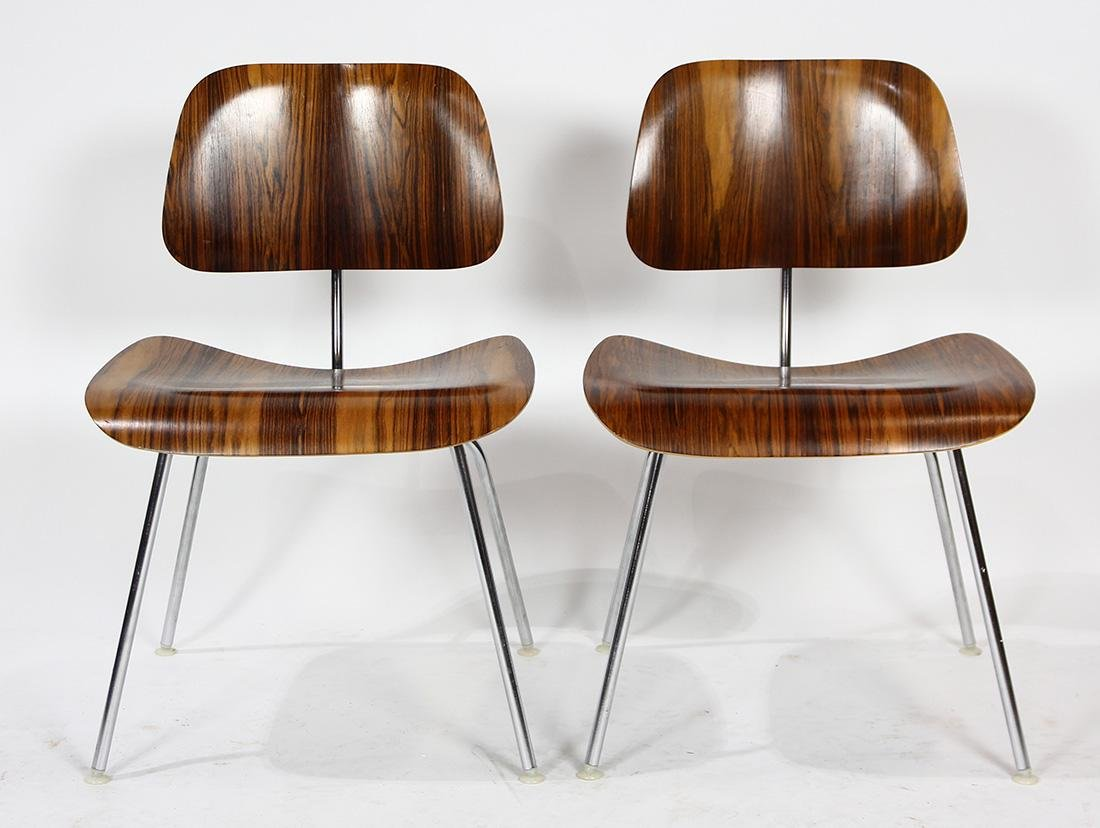 Charles and Ray Eames from Herman Miller rosewood DCM - 4