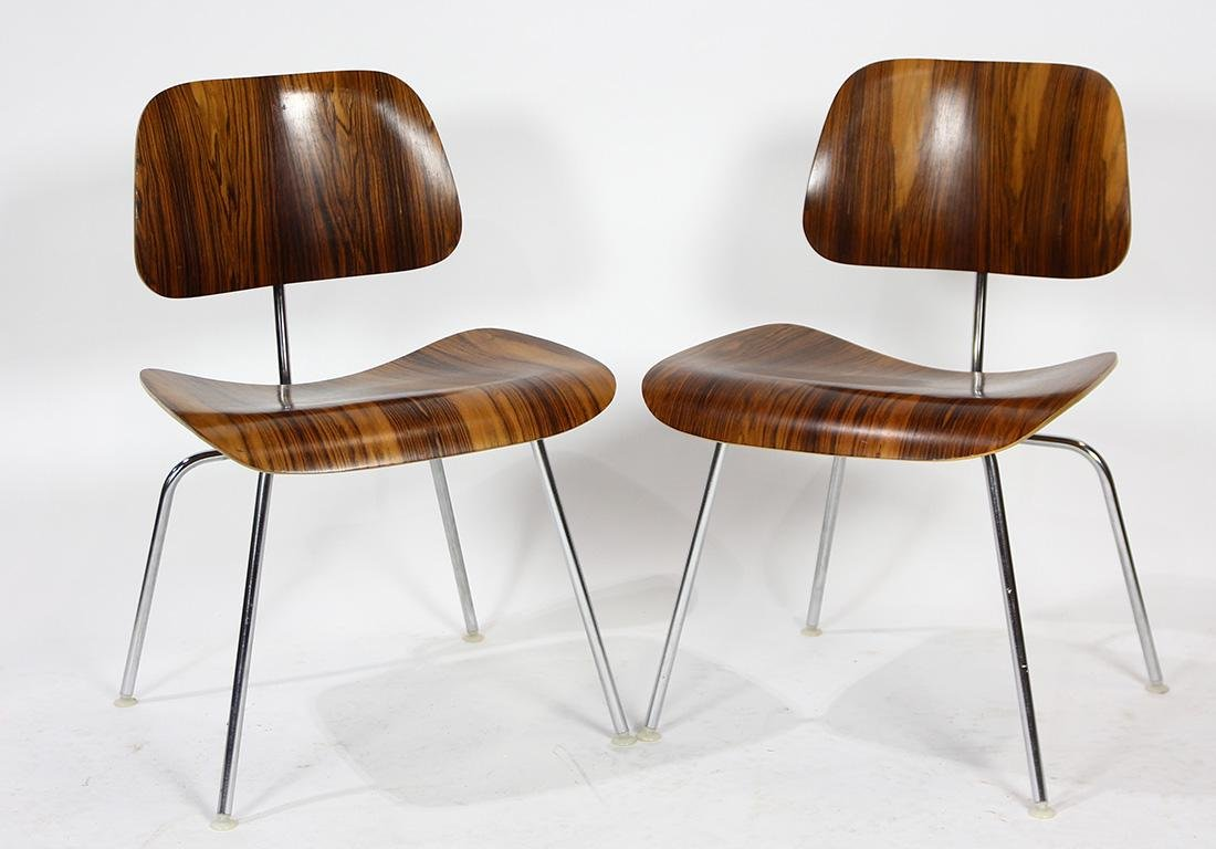 Charles and Ray Eames from Herman Miller rosewood DCM - 5