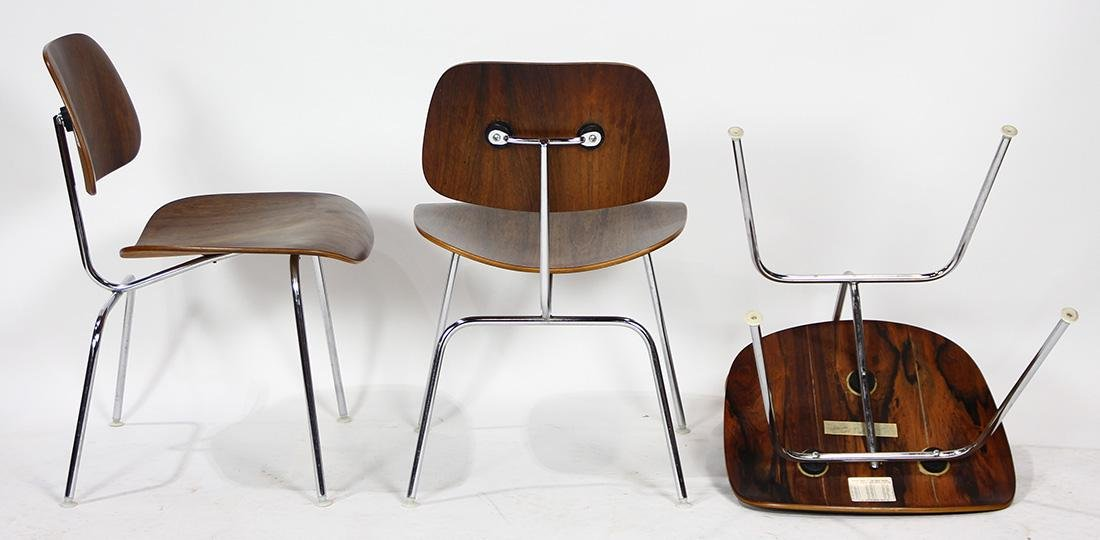 Charles and Ray Eames from Herman Miller rosewood DCM - 6