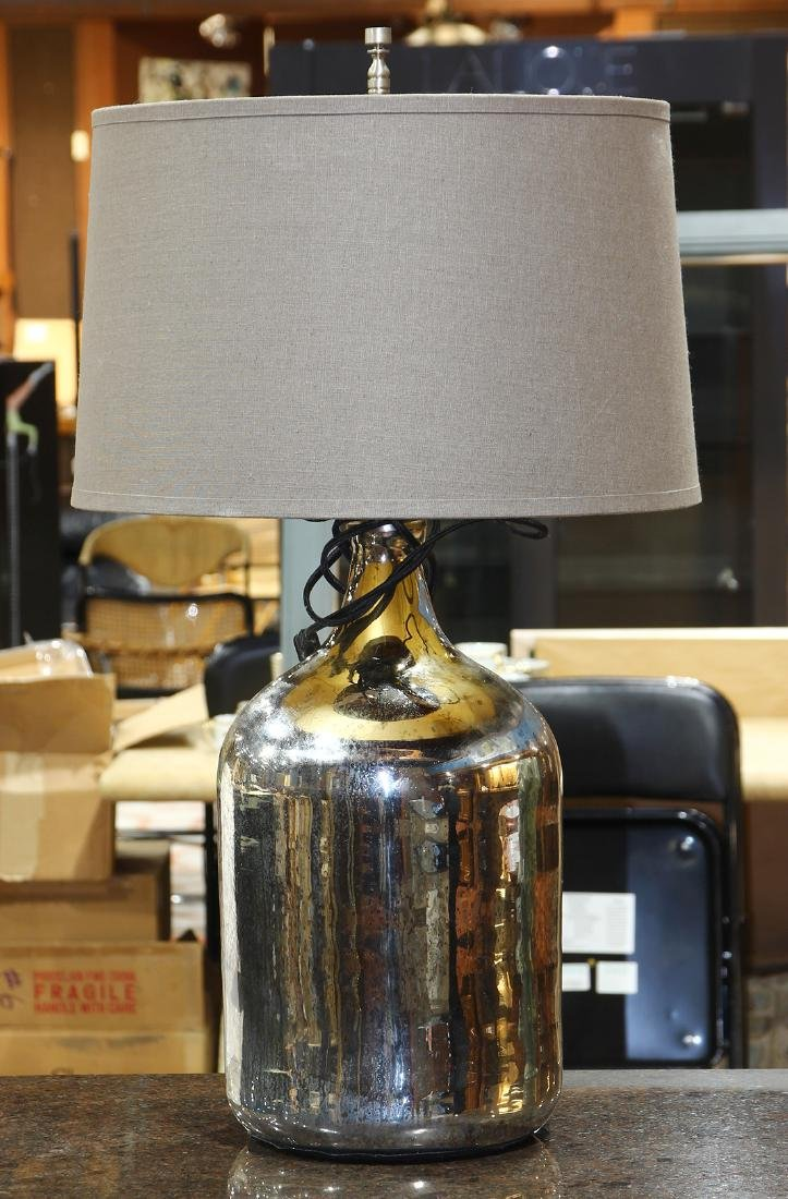 Moderne mercury glass table lamp
