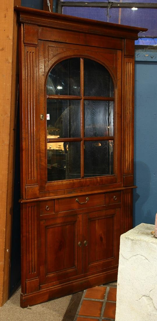 Chippendale style corner cupboard