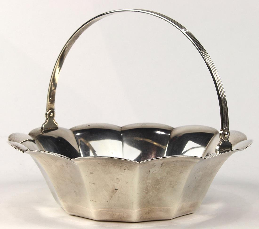 Tiffany & Co. sterling silver swing handle bowl