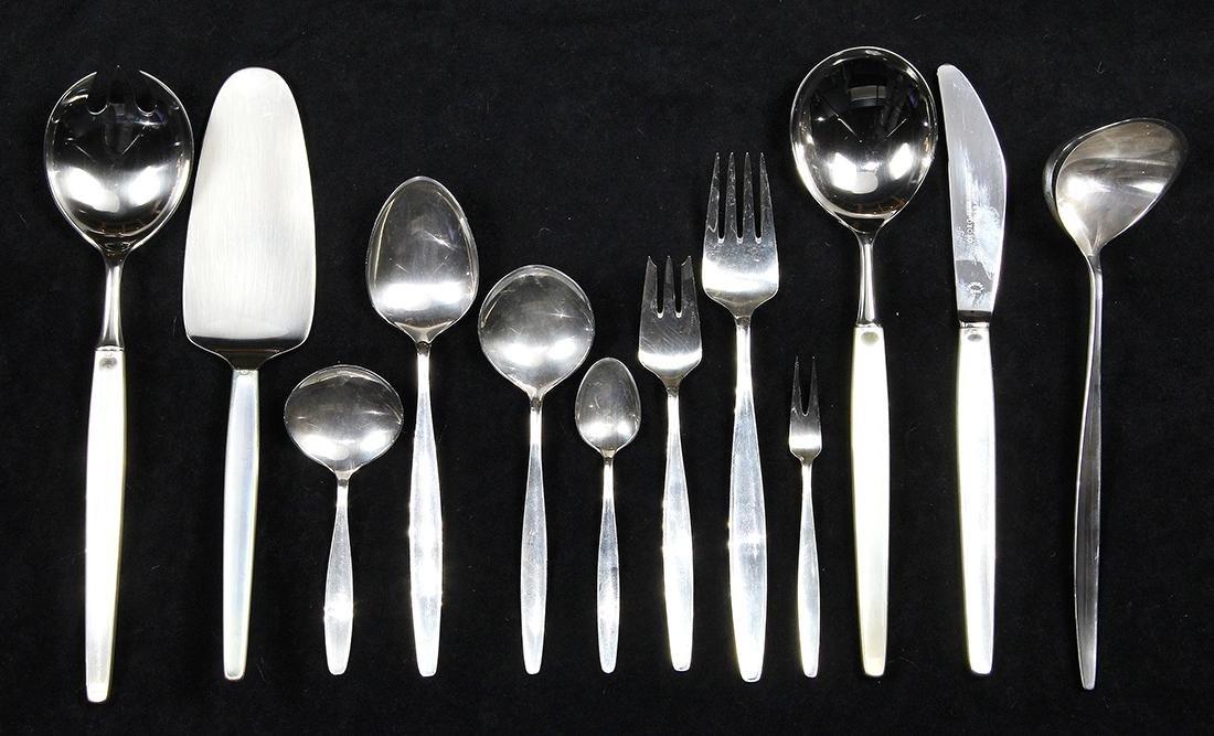 Partial Georg Jensen sterling silver flatware service