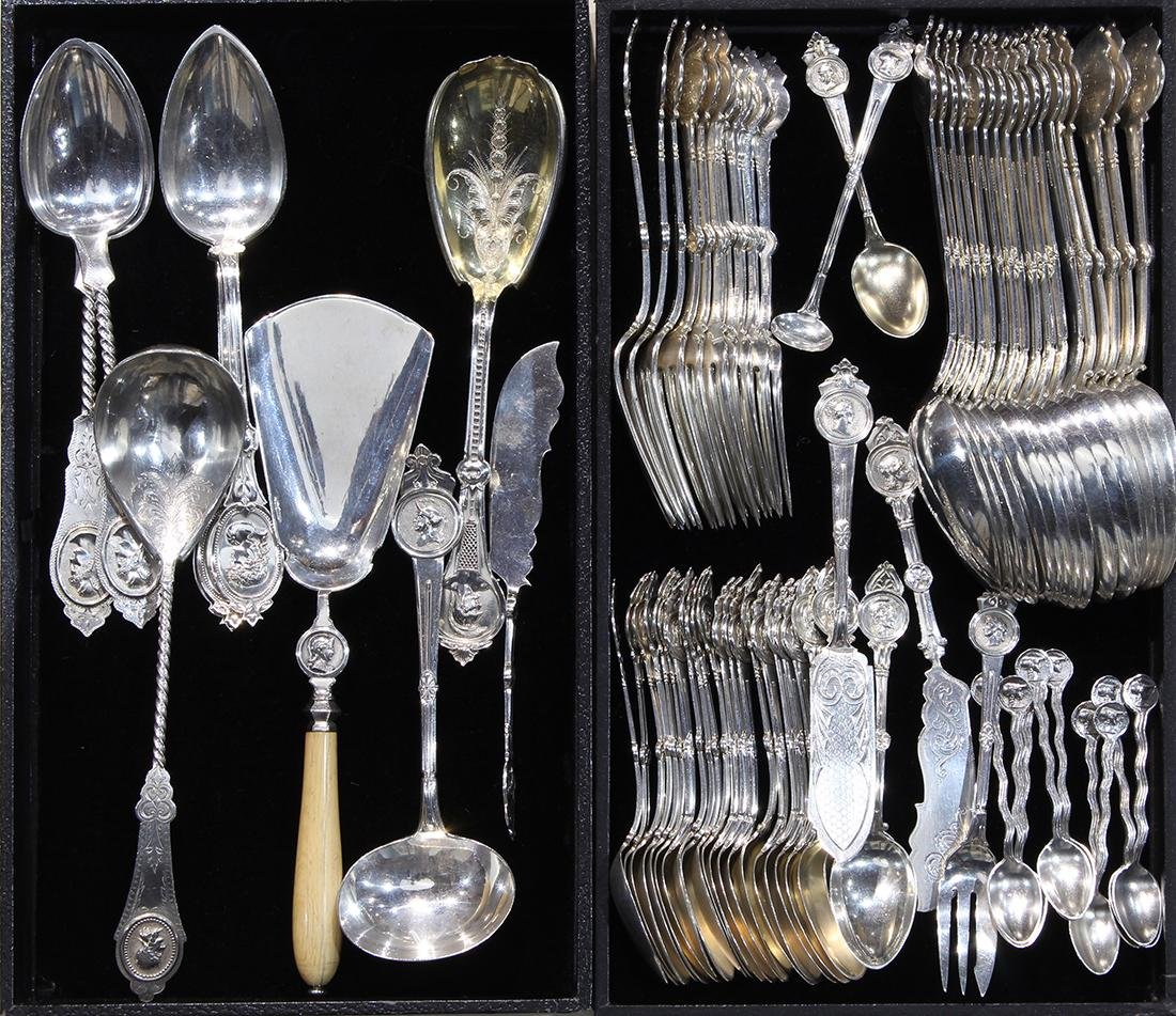 Gorham sterling silver flatware service in the