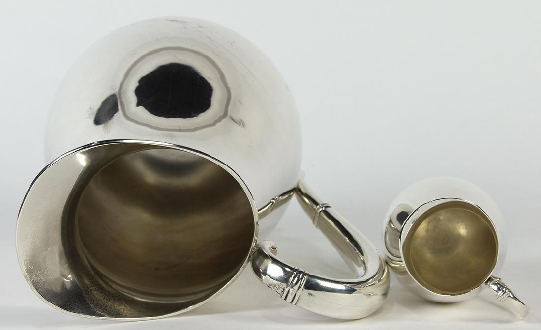 International sterling silver pitcher group, 20th - 3