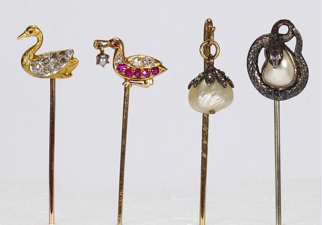 Ruby, diamond, pearl, platinum, yellow gold, silver and