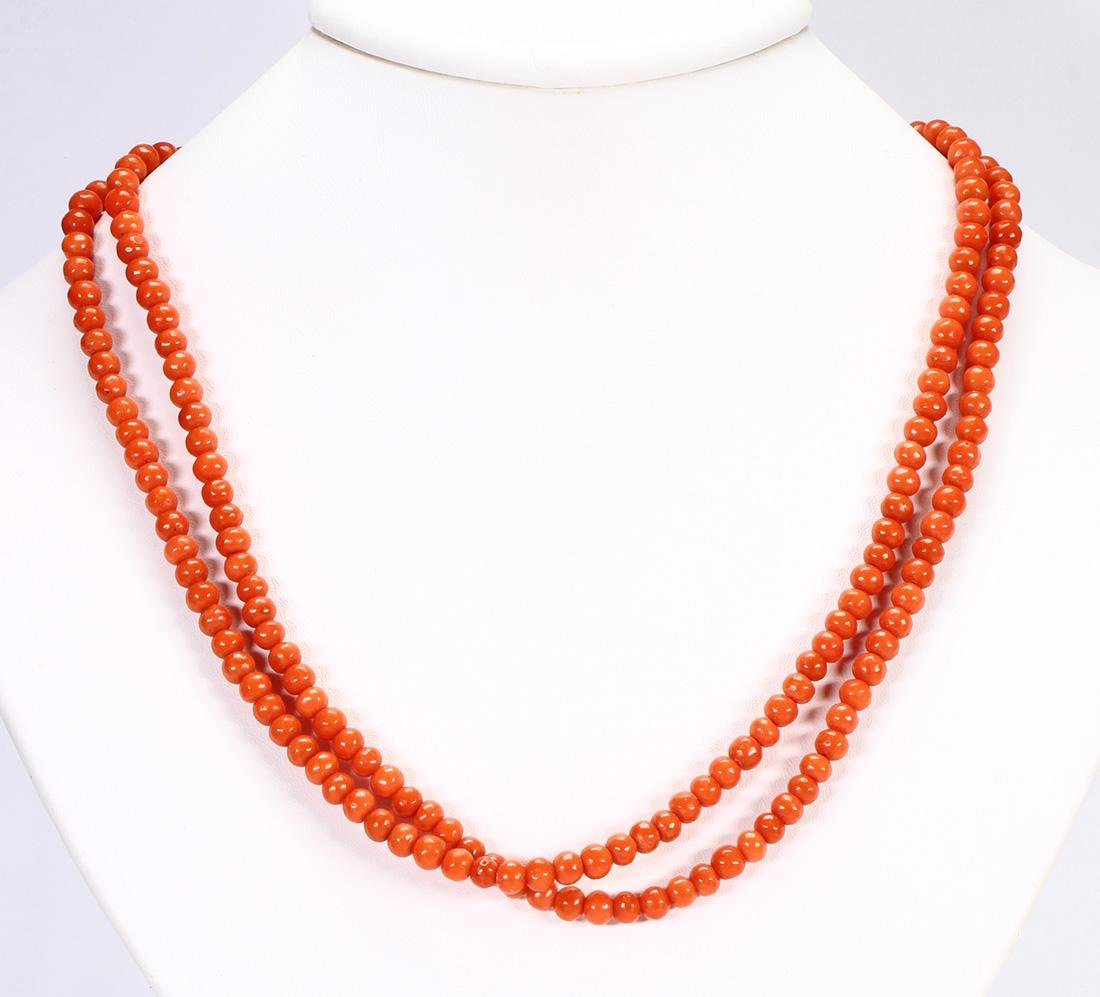 Coral bead necklace - 2