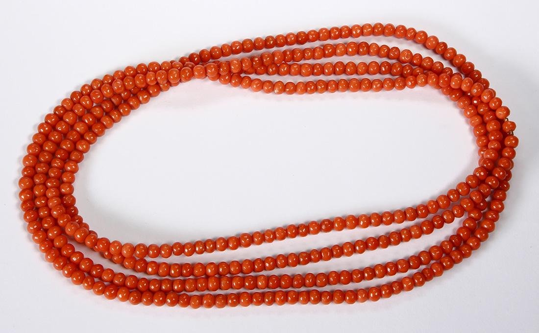 Coral bead necklace - 3