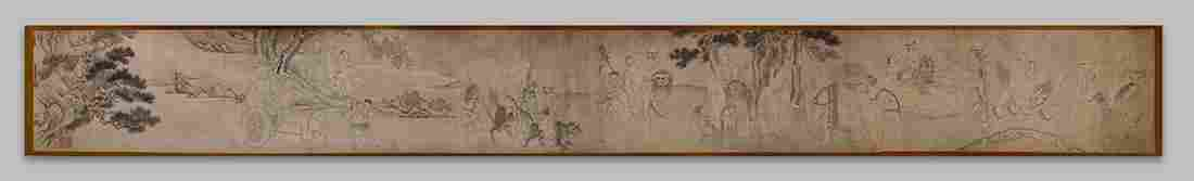 Chinese Handscroll Manner of You Qiu Arhats