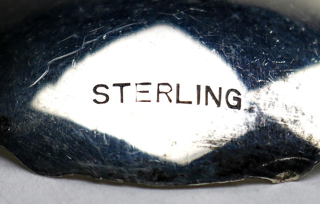 (lot of 7) Sterling silver demitasse spoon set, - 3